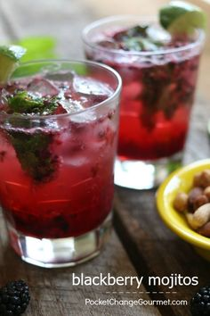 Blackberry Mojito - put your own twist on your cocktails to enjoy at home, with friends for dinner or even a party! Easy to make and SO delicious! Click on the photo for the recipe!