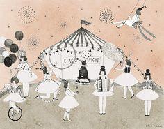 Circus night   Madame Lolina #circus #illustration