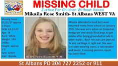 """11 Likes, 2 Comments - JFCWOV (@justice_for_children_wo_voices) on Instagram: """"❤❤❤❤SAFELY LOCATED❤❤❤❤❤❤❤❤🛑Missing Child🛑 URGENT #WV #StAlbans #MikailaSmith Mikaila attended…"""""""