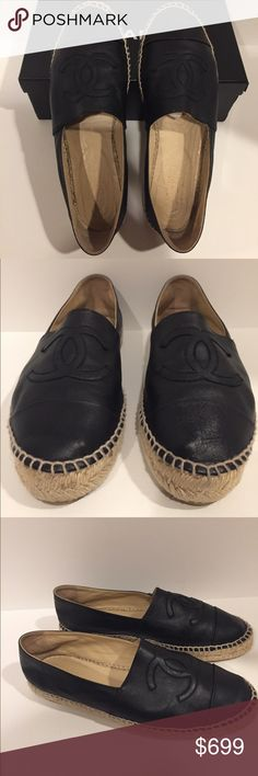 Authentic Chanel Espadrilles in Black Authentic Chanel Classic Espadrilles in Black. Size 40. Normal wear. Box included. (No trades, only selling) CHANEL Shoes Espadrilles
