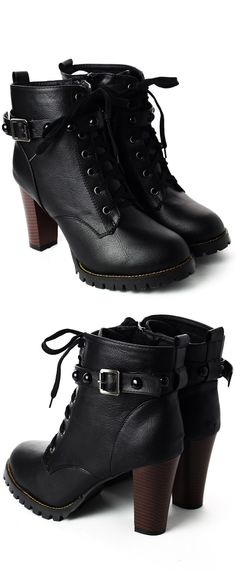 Studded Heel Ankle Boots