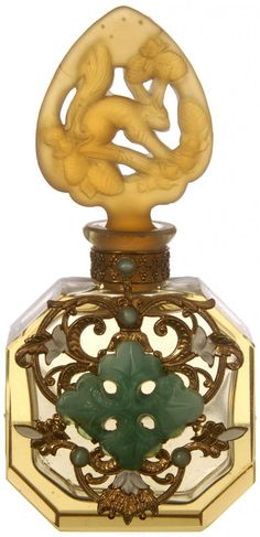 "4 1/2"" SIGNED CZECHOSLOVAKIA PERFUME BOTTLE"