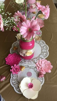 Pink and gold Baby Shower Party Ideas   Photo 9 of 12