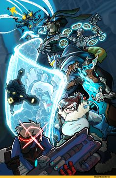 Blizzard,Blizzard Entertainment,фэндомы,Soldier 76,Overwatch,Reinhardt,Zenyatta,Hanzo,Pharah,Mei (Overwatch),Symmetra,Overwatch art