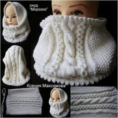 - Everything About Knitting Crochet Hooded Scarf, Knitted Headband, Knitted Hats, Knit Crochet, Crochet Hats, Knitting Designs, Knitting Projects, Crochet Projects, Knitting Patterns
