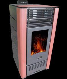 Estufa Sinergia modelo Vento de pellets para dar calor a diferentes habitaciones de tu vivienda