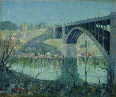 """Ernest Lawson (1873 - 1939) """"Spring Night, Harlem River"""" 1913"""