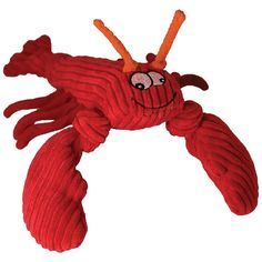 HuggleHounds Knotties Lobsta Dog Toy - Large | EntirelyPets