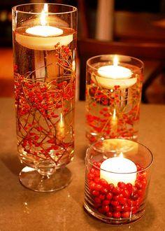 рождественский декор свечей своими руками