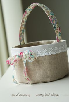 a little fabric basket for Easter