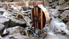 Water Wheel Generator Water Wheel Generator, Water Turbine, Cabin Homes, Alternative Energy, Renewable Energy, Water Wheels, Houses, Cabins, Wood