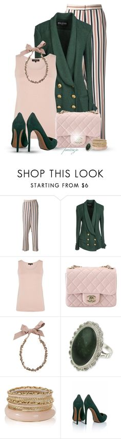 """Don't Change the Chanel"" by rockreborn ❤ liked on Polyvore featuring By Malene Birger, Balmain, Jaeger, Chanel, Lanvin and Alaïa"