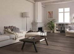 Living Room With Gray Laminate Flooring With Grey Laminate Flooring For Living Room With White Sofa And The Arch