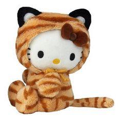 Hello Kitty Plüsch Bean Bag Tiger 15cm