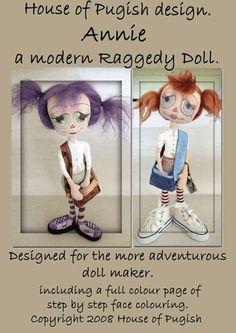 A Modern Annie Cloth doll pattern por HouseOfPugish en Etsy, $8,00