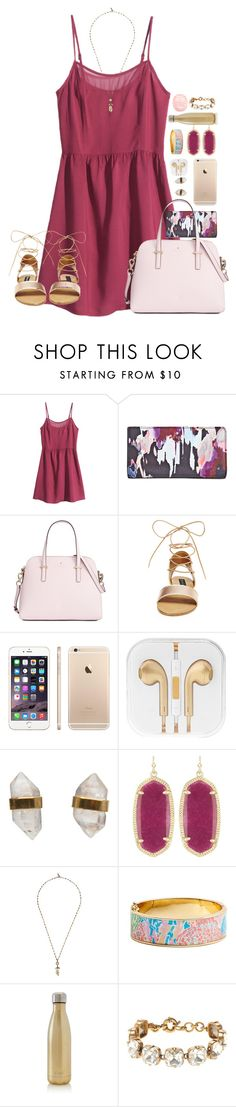 """""""wear pink and make the boys wink ;)"""" by simple-and-bright ❤ liked on Polyvore featuring H&M, Kate Spade, Steve Madden, Better Late Than Never, Kendra Scott, Isabel Marant, Lilly Pulitzer, S'well, J.Crew and River Island"""