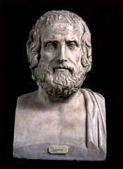 Euripides, c., of Ancient Greece. One of his key works was, Medea B. Ancient Greek Art, Ancient Romans, Ancient Greece, Ancient History, Rodin, Sculpture Romaine, Statues, Rome Antique, Roman Sculpture