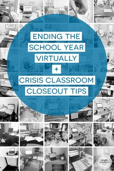 Ending the school year virtually + crisis classroom closeout tips Classroom Routines, Classroom Management Strategies, Classroom Procedures, Teaching Strategies, Teaching Tips, Teacher Inspiration, New Teachers, Memory Books, Time Capsule