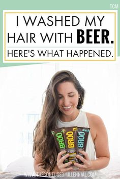beer for hair, beer rinse, beer treatment, beer shampoo, broo, diy beer wash, hair growth, hair shine
