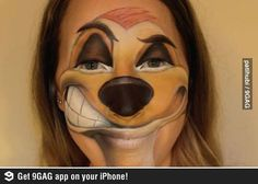 Timon face paint...I will master this for the best halloween ever