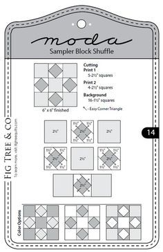 Moda Sampler Block Shuffle - Block 14