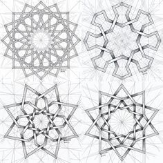 Mc Escher Tessellations, Islamic Patterns, Paper Weaving, Math Art, Art Reference Poses, Tattoo Inspiration, Fractals, Collage, Embroidery