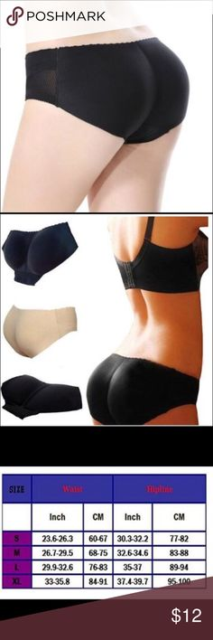 BLACK SEAMLESS PADDED PANTIES SHAPER Sexy,breathable,comfy and invisible,perfect for jeans,shorts,tight dress or simply give your butt a boost while working out 55% male think butt is the most sexy part;20% male think legs are the most sexy part;15% male think brest is the most sexy part;10% male vote other parts These stretchy panties can instantly give you a boost with rear circular cut-outs that lift and mold your booty and a stretchy front that offers tummy control Intimates & Sleepwear…