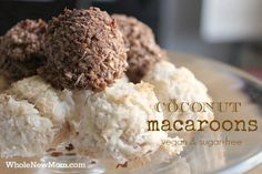 Aaaah — Macaroons. For some reason I have always had a thing for these little mounds of coconut. These are egg, gluten, and grain-free!
