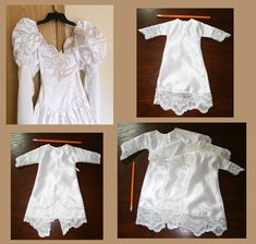 """sewing goal: sew NICU Helping Hnads """"Angel Gowns"""" for preemies and babies. made from wedding dresses"""