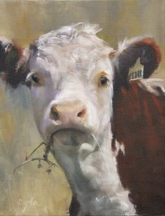 Straw Baby ( Award of Excellence, 2011 Oil Painters of America Western Regional Exhibition) by Daria Shachmut Oil ~ 18 x 14 Cow Pictures, Farm Art, Cow Art, Oil Painters, Western Art, Animal Paintings, Paintings Of Cows, Cow Paintings On Canvas, Pet Portraits