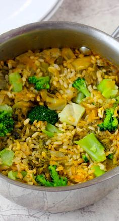 This is a four ingredient brown rice medley made with real broccoli for a flavorful and healthy side dish that will compliment your baked chicken..