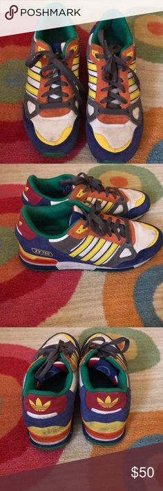adidas ZX 750 - multicolor shoes Men's size 8, fits women size 10. adidas Shoes Athletic Shoes