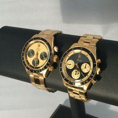 Rolex 6263 and 6264 18k Gold Paul Newman Daytona by Rolex