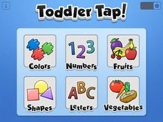 """Toddler Tap! Looks like a """"flashcard"""" style app, but simpler than some others we've seen. ($0.99)"""