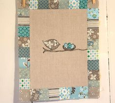 Done in batiks for a gender neutral baby room w/ bird theme!
