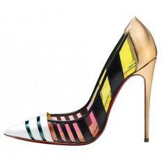 Shoespie Contrast Color Stiletto Heels