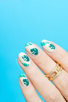 Easy Tropical nails || Summer nail art