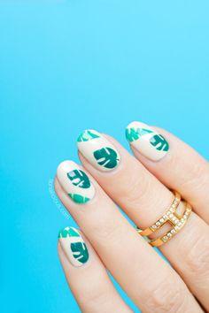 Easy Tropical nails || Summer nail art