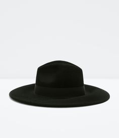 Image 1 of WIDE BRIM FELT HAT from Zara