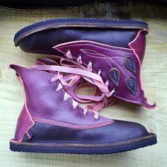 Leather Handmade bohemian fairytale boots, MUSTARDSEED by Fairysteps