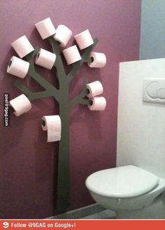 Una soluzione divertente e originale per riporre i rotoli di carta igienica #organizzare #bagno