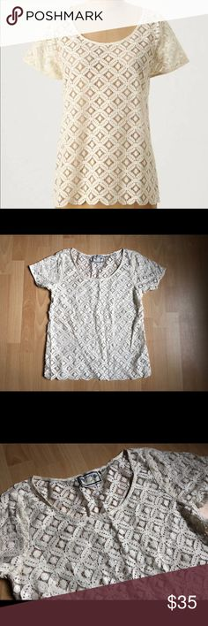 1ad853a090622 NWOT Anthro Two of Us Lace Top - Sz M Gorgeous and lightweight