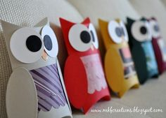 cute owl craft using toilet paper rolls LOVE IT!