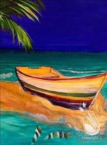 """""""Fort Lauderdale Sandbar 1 of 4"""" on Wednesday, 9/16/15, from 7-9 p.m., with Maria. Sign up at: http://www.paintingwithatwist.com/events/viewevent.aspx?eventID=502967"""