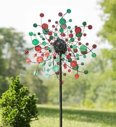 #Solar #Red and #Green #Dots #Wind #Spinner