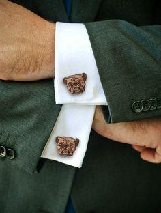 Bulldog Cufflinks by Vectorcloud on Etsy