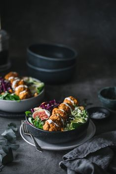 Kürbisfalafel Bowl The Effective Pictures We Offer You About Kerala food quotes A quality picture ca Falafel, Amazing Food Photography, Halibut Recipes, Avocado Salad Recipes, Healthy Snacks, Healthy Recipes, Kerala Food, Vegetarian Dinners, Healthy Vegetables