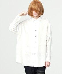 SHAREEF(シャリーフ)のTYPOGRAPHY BIG SHIRTS ■(シャツ/ブラウス)|ホワイト