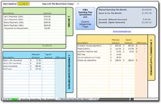 Really neat FREE downloadable spreadsheet to track expenses