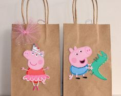 Peppa pig party bags 25 by ScozShop on Etsy